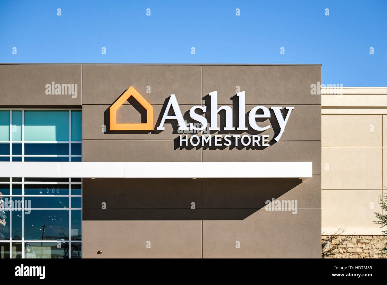Ashley Homestore, A Decor And Furniture Store On Memorial Road In North Oklahoma  City, Oklahoma, USA.