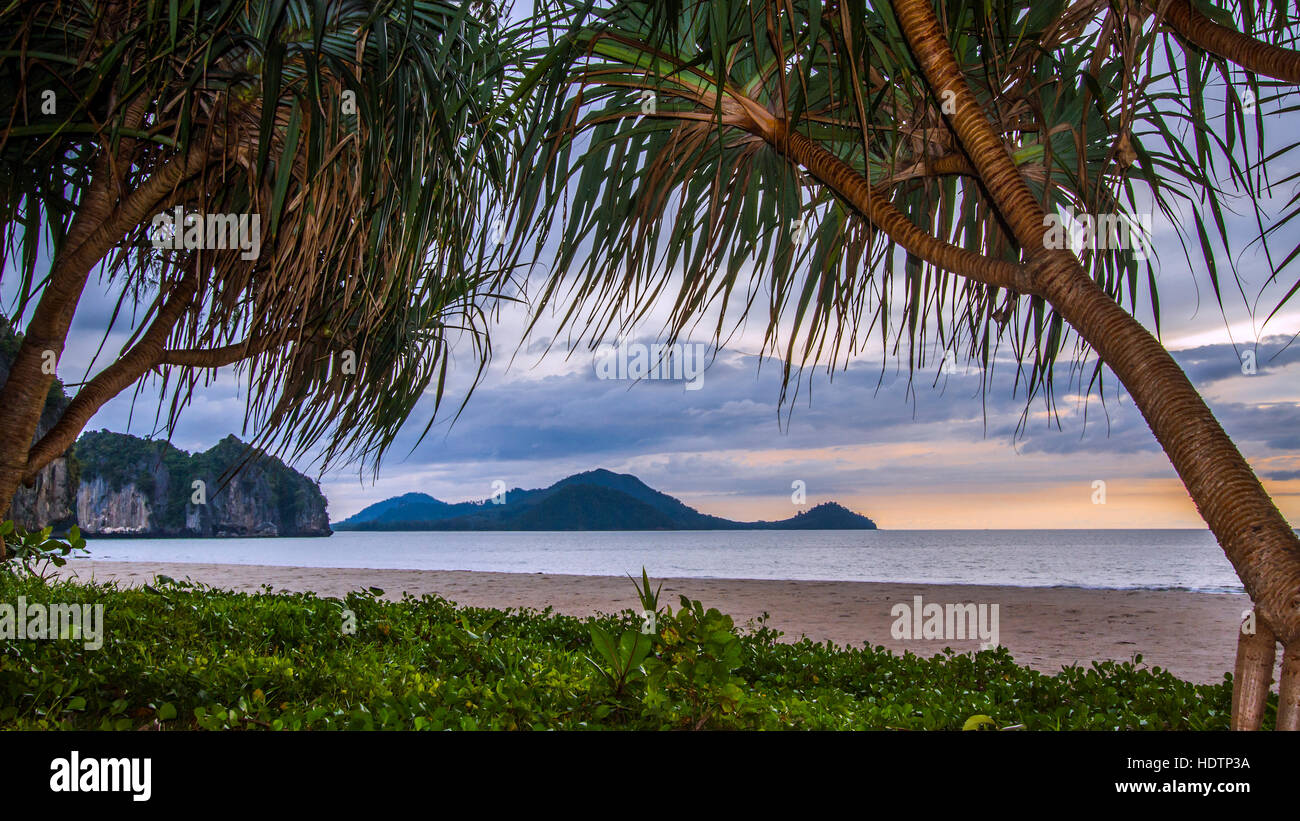 Hat Chao Mai national park sunset, Thailand - Stock Image