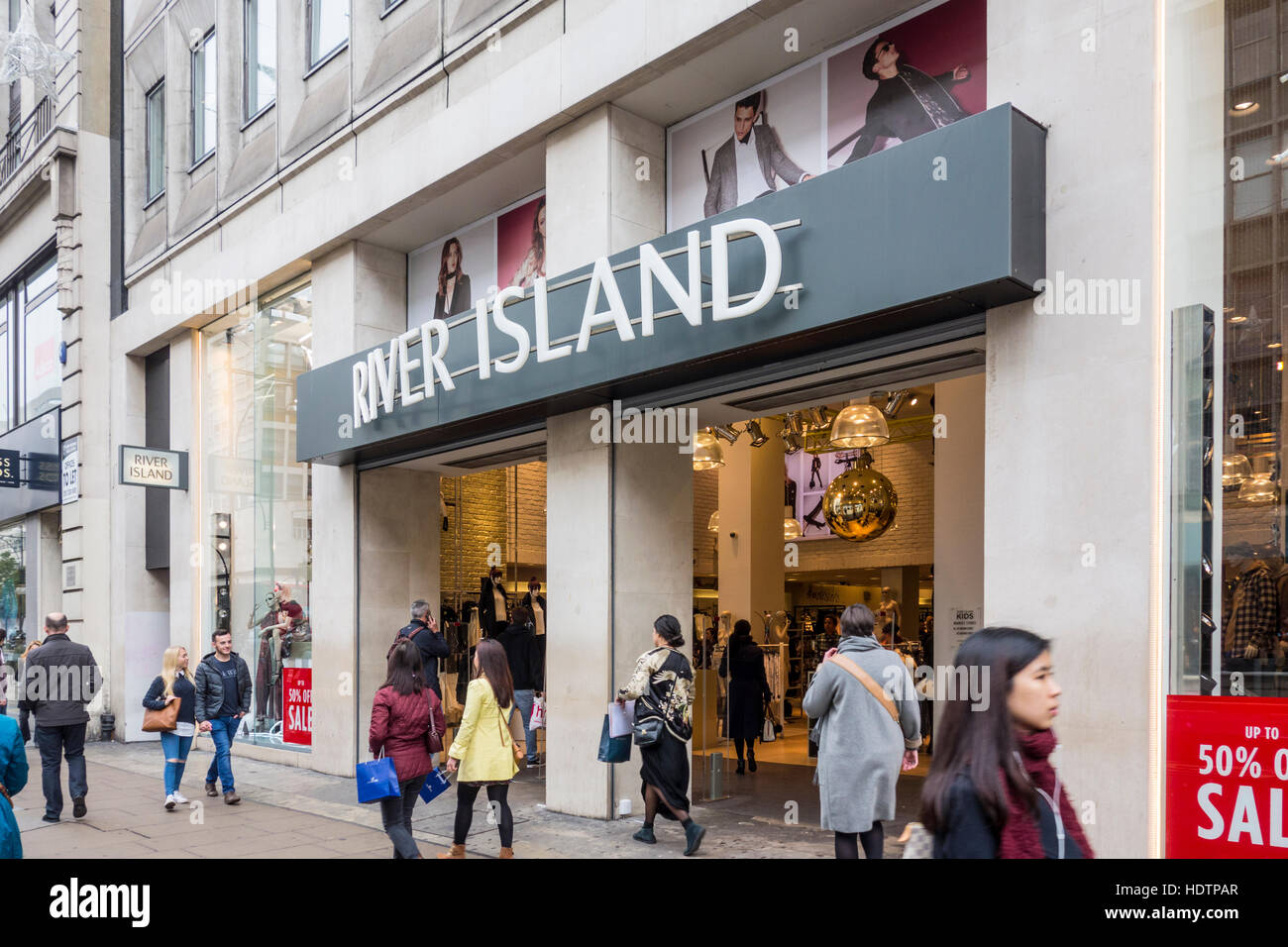 River Island store, Oxford Street, London, UK Stock Photo