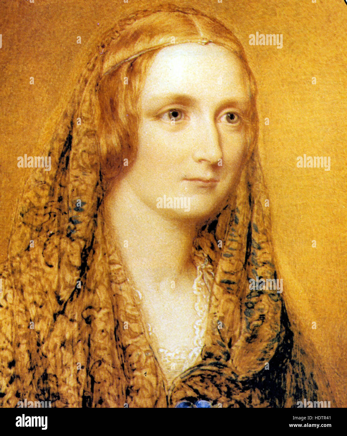 MARY SHELLEY (1797-1851) English author of Frankenstei in a portrait Stock Photo: 129008097 - Alamy