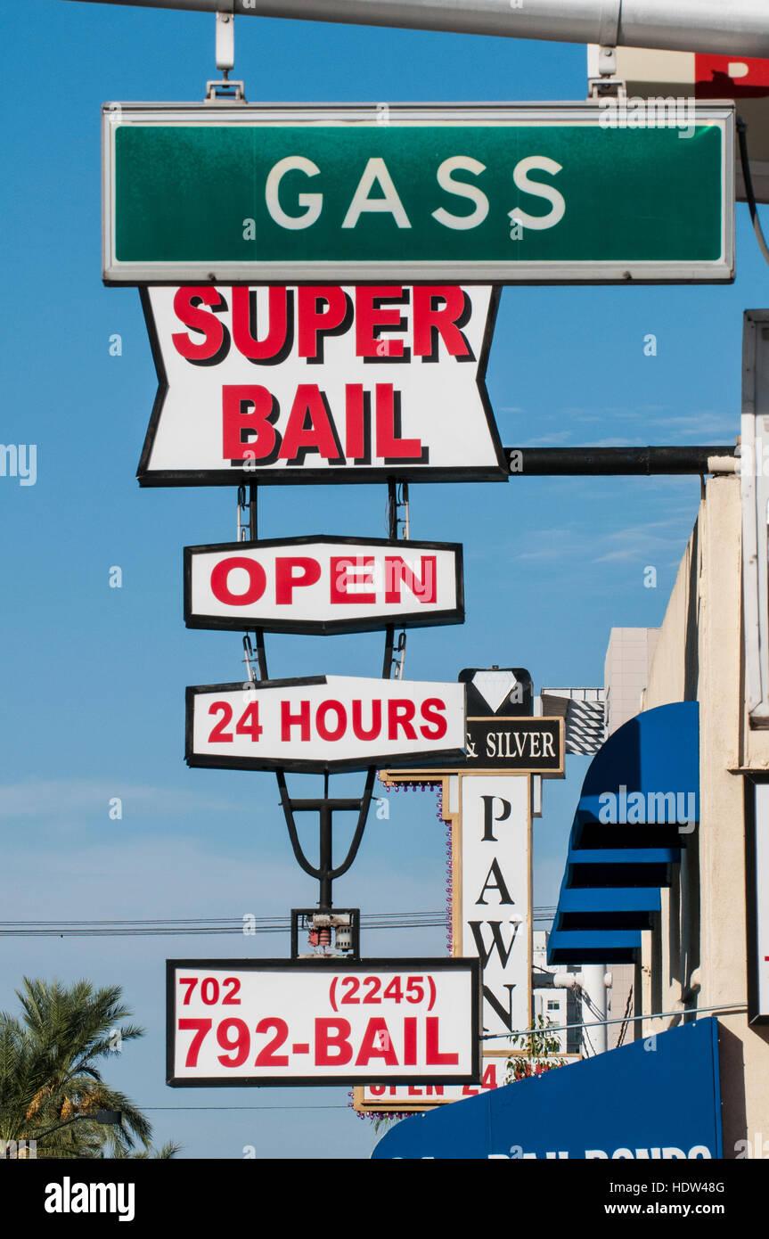SUpaer Bail Bonds Las Vegas, Nevada. - Stock Image