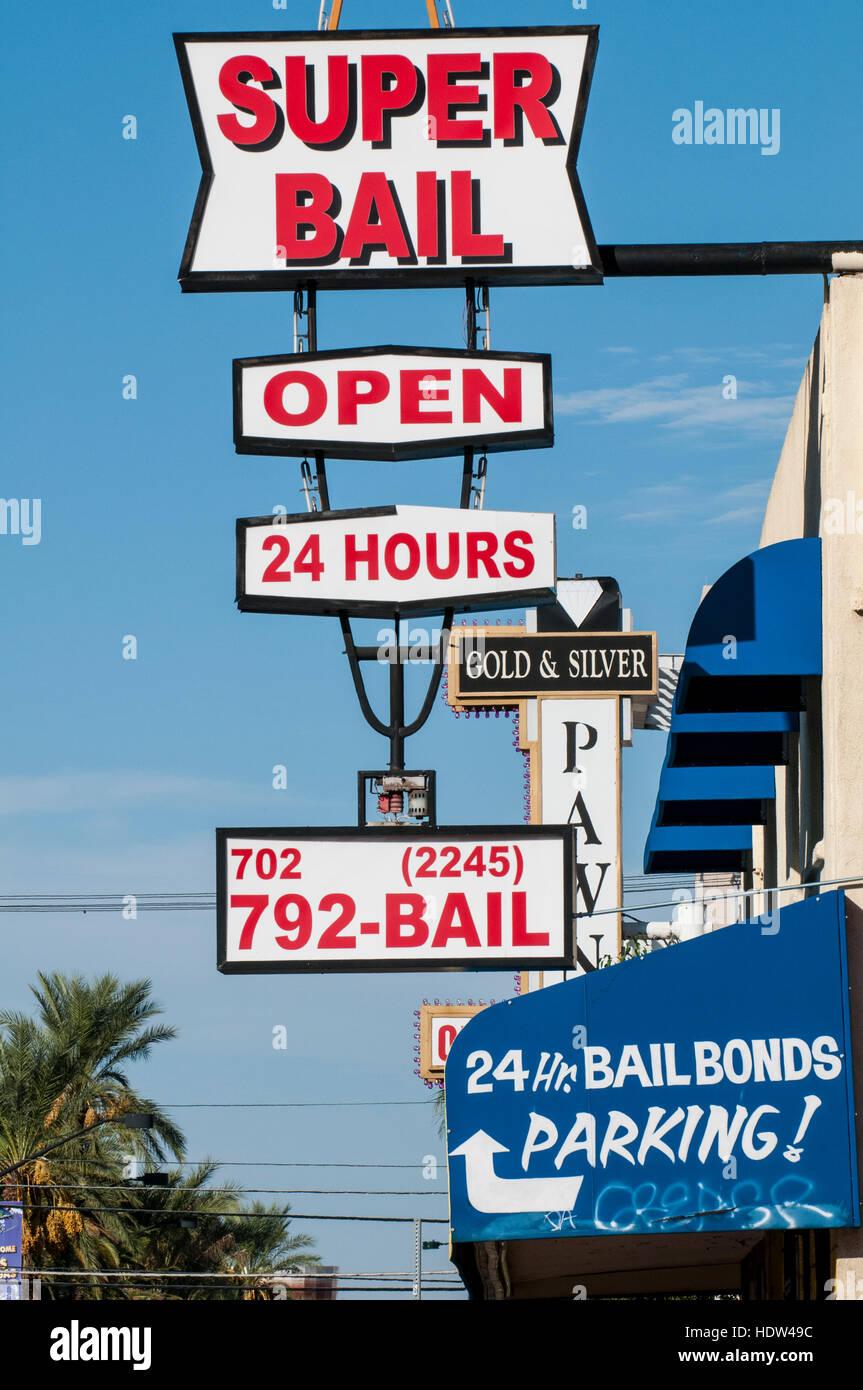 Super Bail Bonds Las Vegas, Nevada. - Stock Image