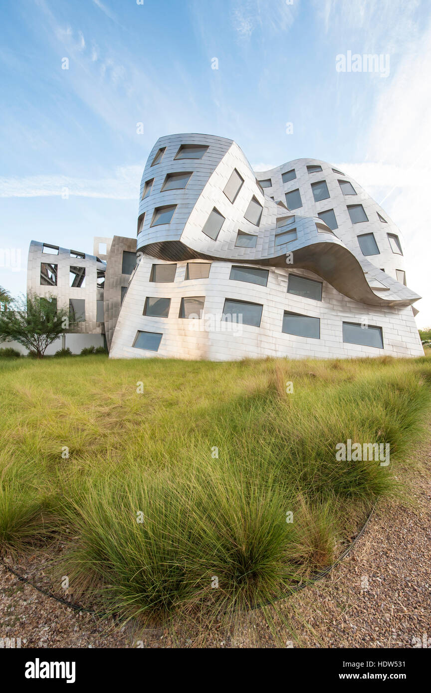 Cleveland Clinic Lou Ruvo Center for Brain Health building designed by Frank Gehry, Las Vegas, Nevada. - Stock Image