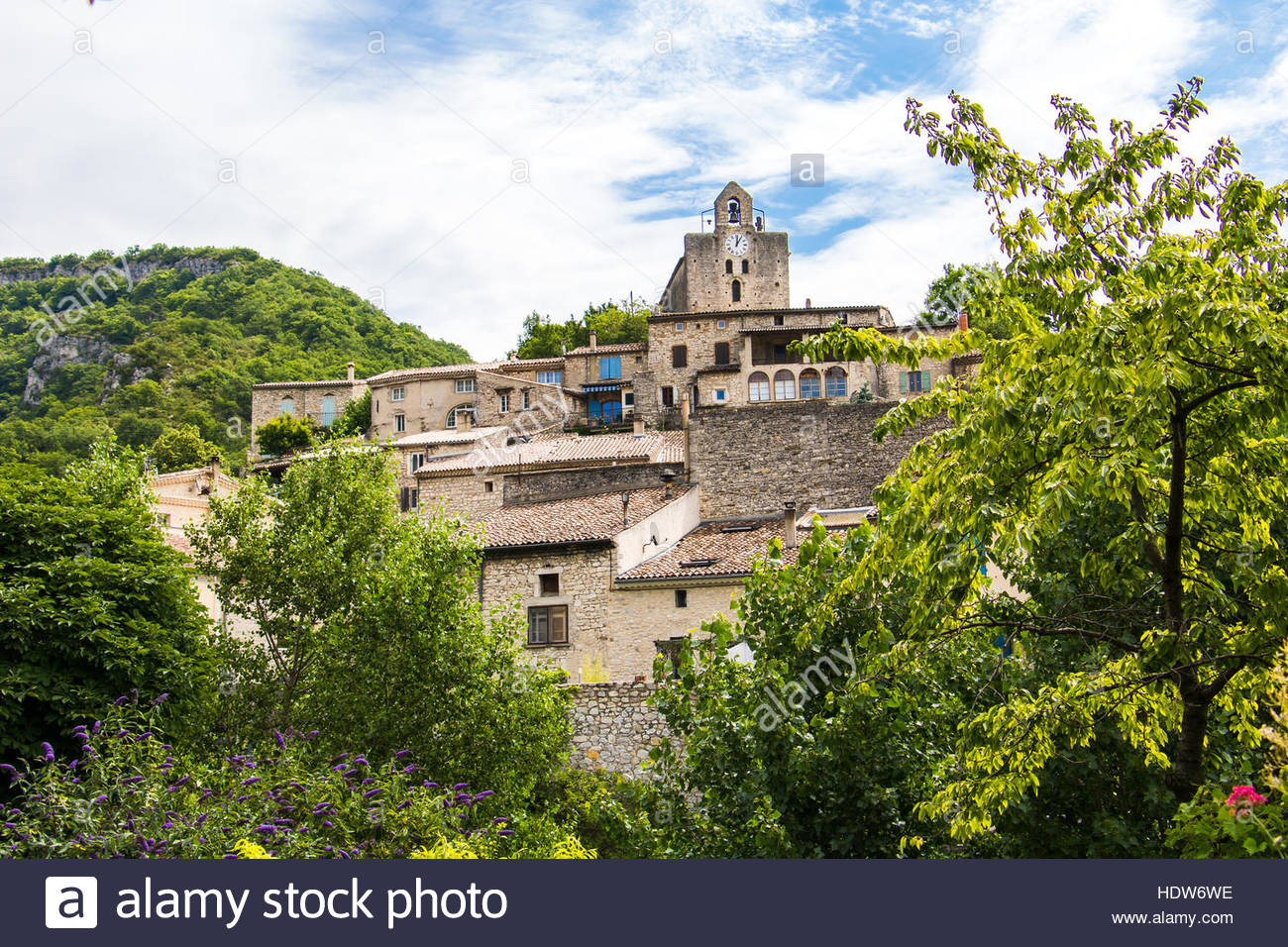 Medieval Village Le Pot Clard French Provence House Exterior Atmospheric Countryside