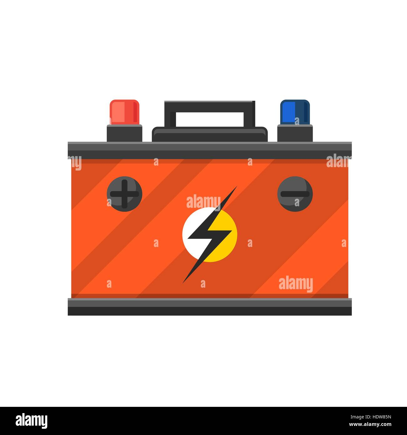 Accumulator battery energy power and electricity. - Stock Vector