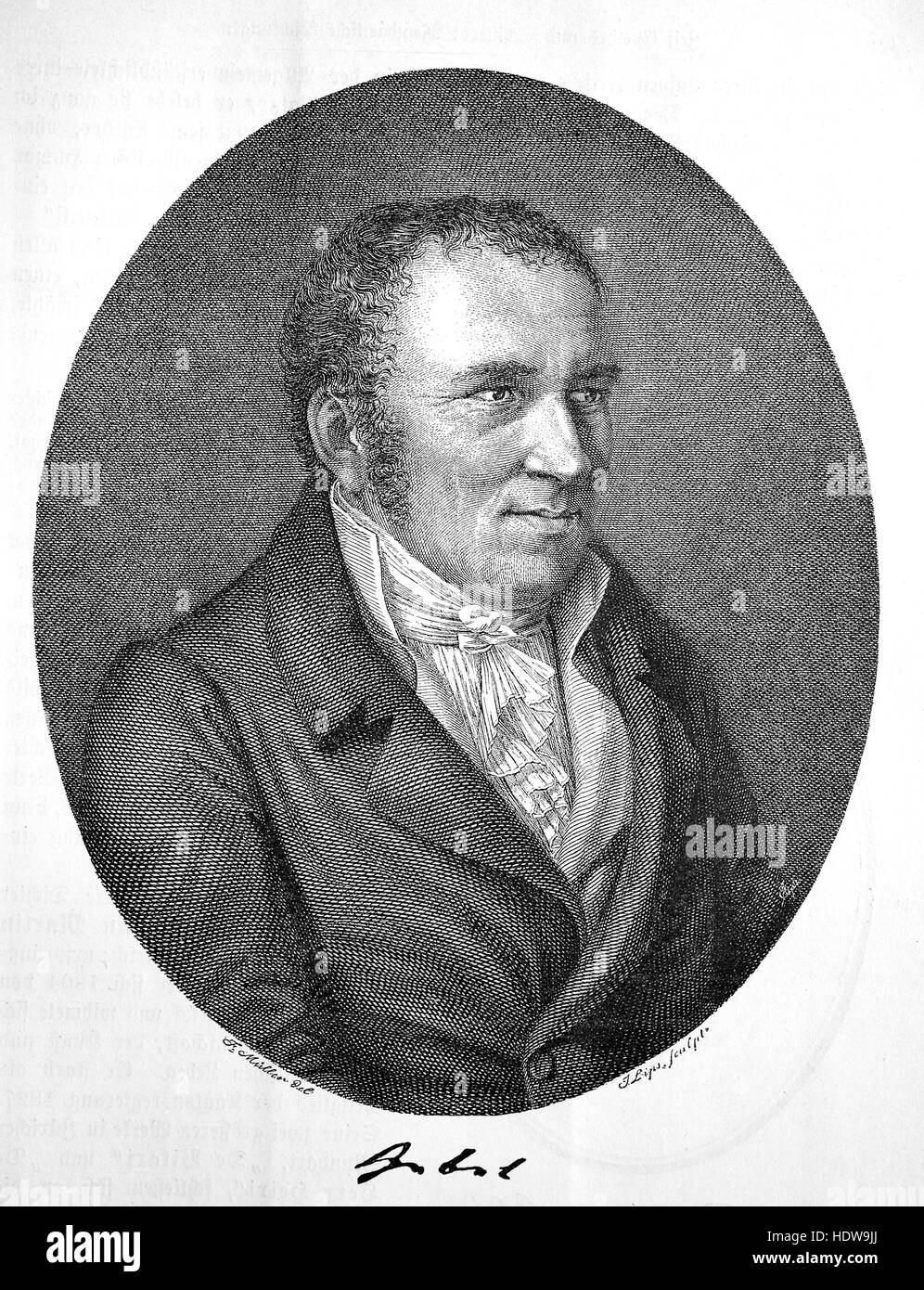 Johann Peter Hebel, 1760-1826, a German short story writer, dialectal poet, evangelical theologian and pedagogue, - Stock Image