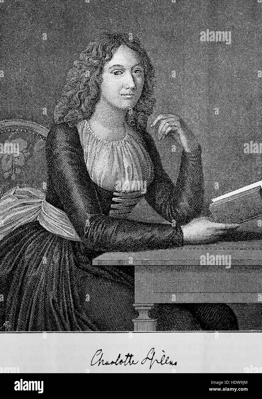 Charlotte Luise Antoinette von Schiller, born Charlotte von Lengefeld, 1766-1826, the wife of German poet Friedrich - Stock Image
