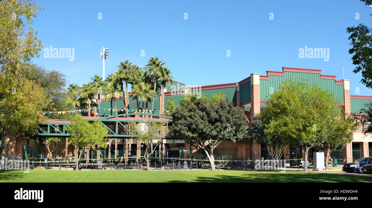 Scottsdale Stadium is the Spring Training home of the San Francisco Giants of  Major League Baseballs National League. - Stock Image