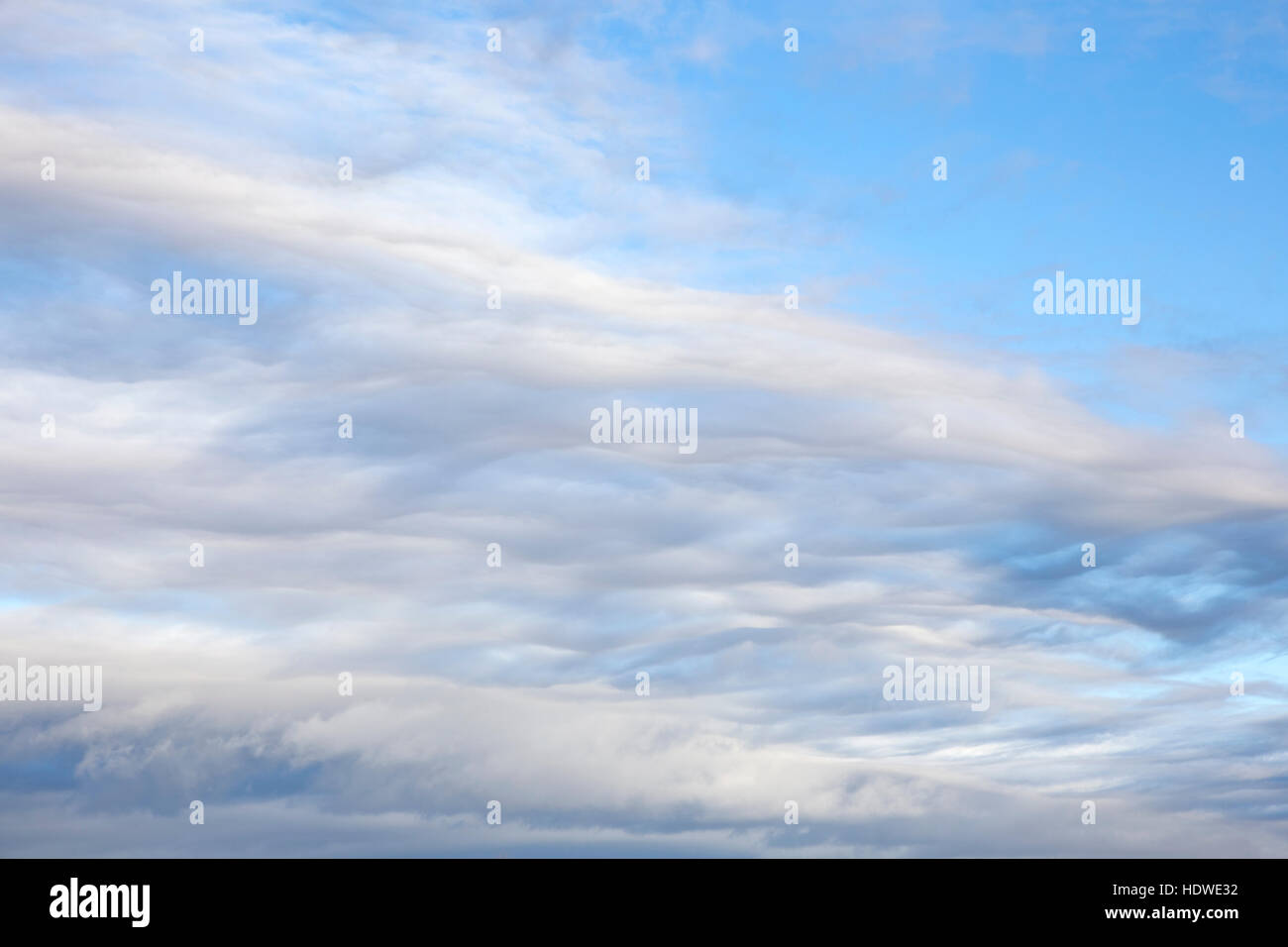 Unusual Stratocumulus cloud formation. - Stock Image
