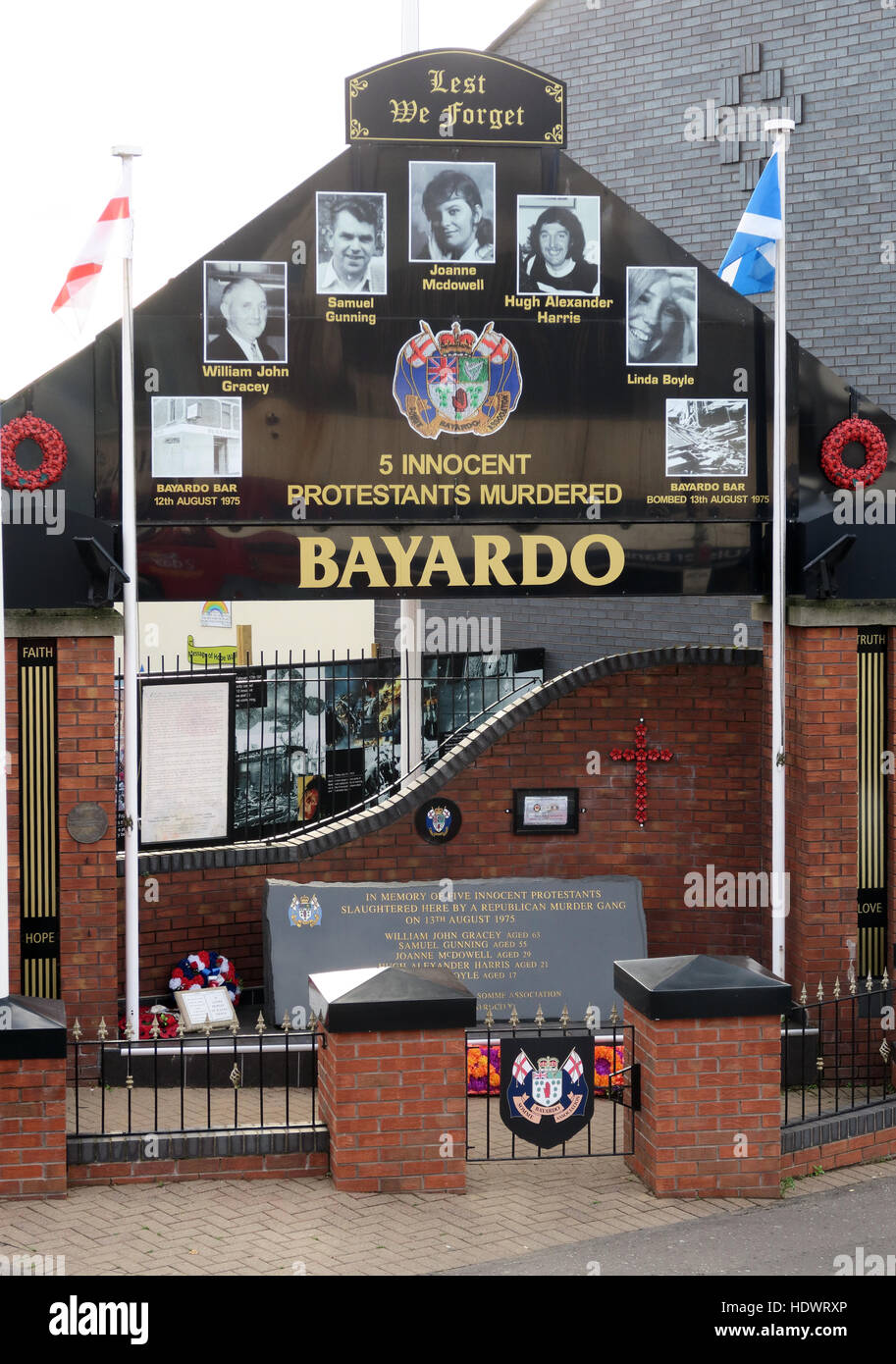 Bayardo Bar mural, off Shankill Road West Belfast,Northern Ireland,UK - Stock Image