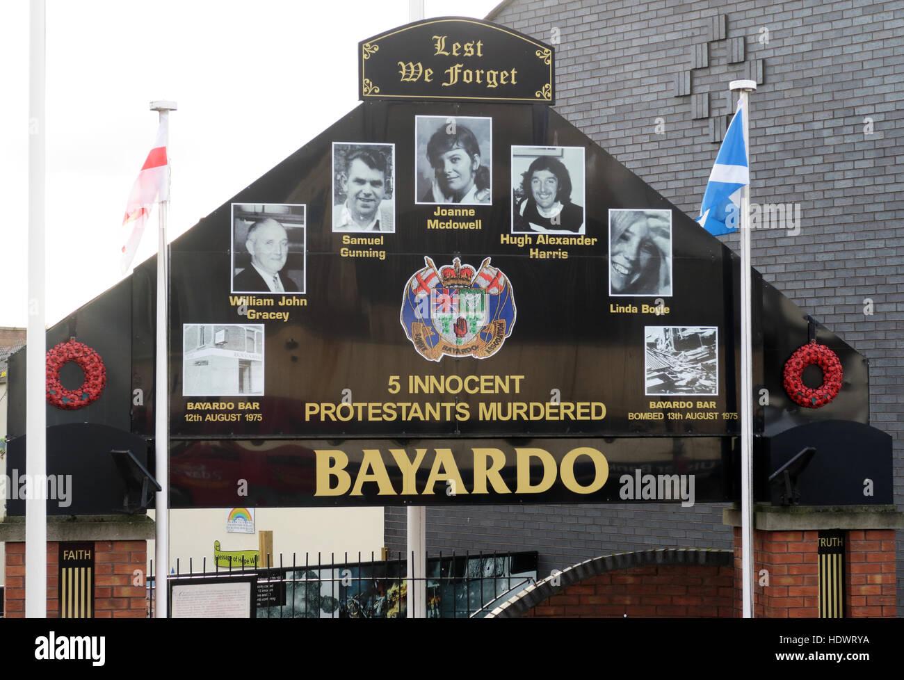 Bayardo Bar mural, off Shankill Road West Belfast,Northern Ireland,UK - Stock Image