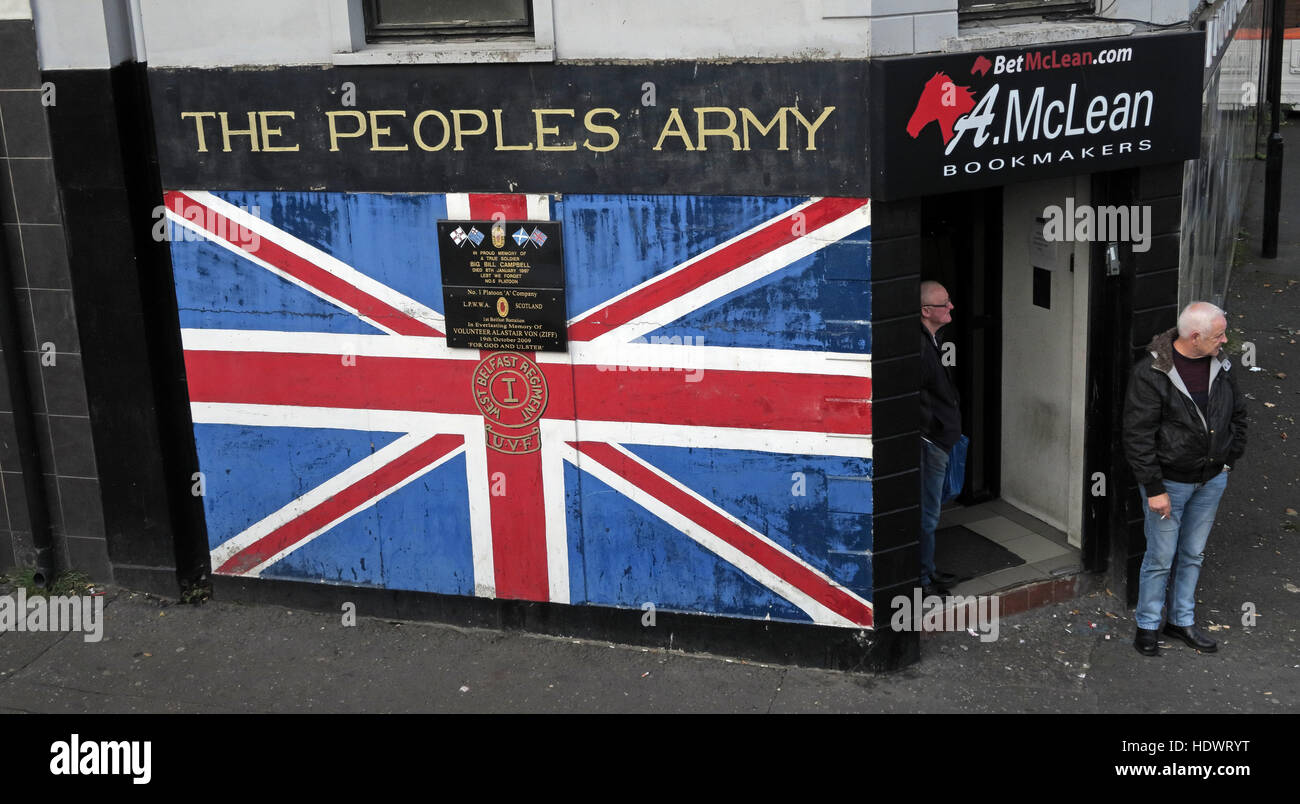 The Peoples Army,Shankill Road West Belfast,Northern Ireland,UK - Stock Image