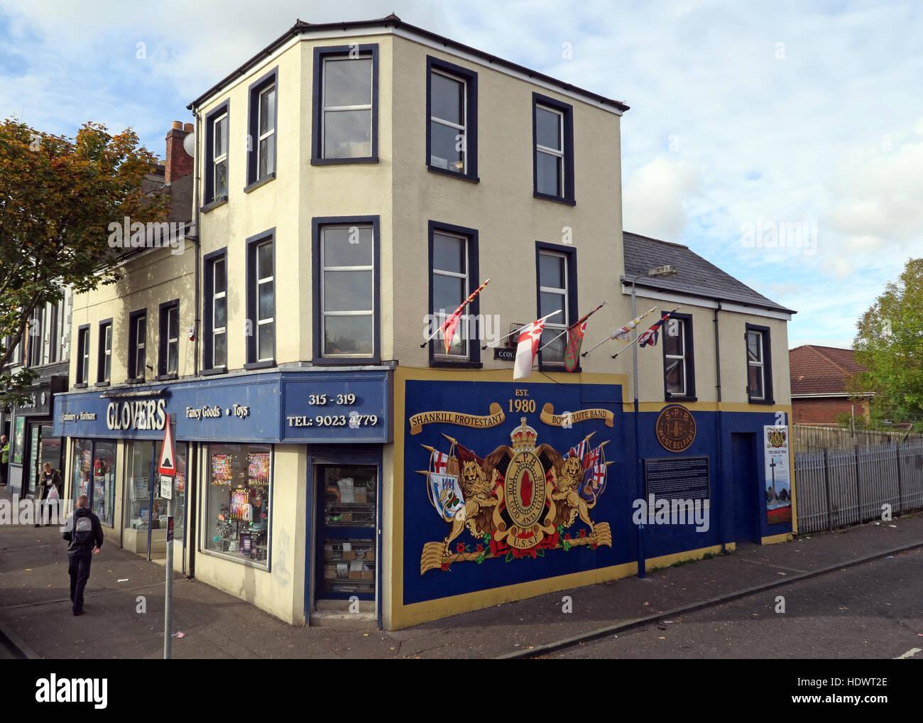 UFF Unionist mural, off Shankill Road West Belfast,Northern Ireland,UK Stock Photo