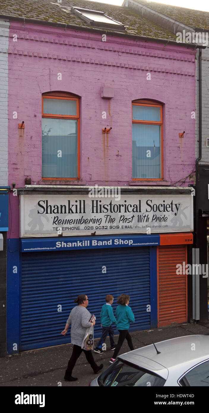 Historical Society,Shankill Road West Belfast,Northern Ireland,UK - Stock Image