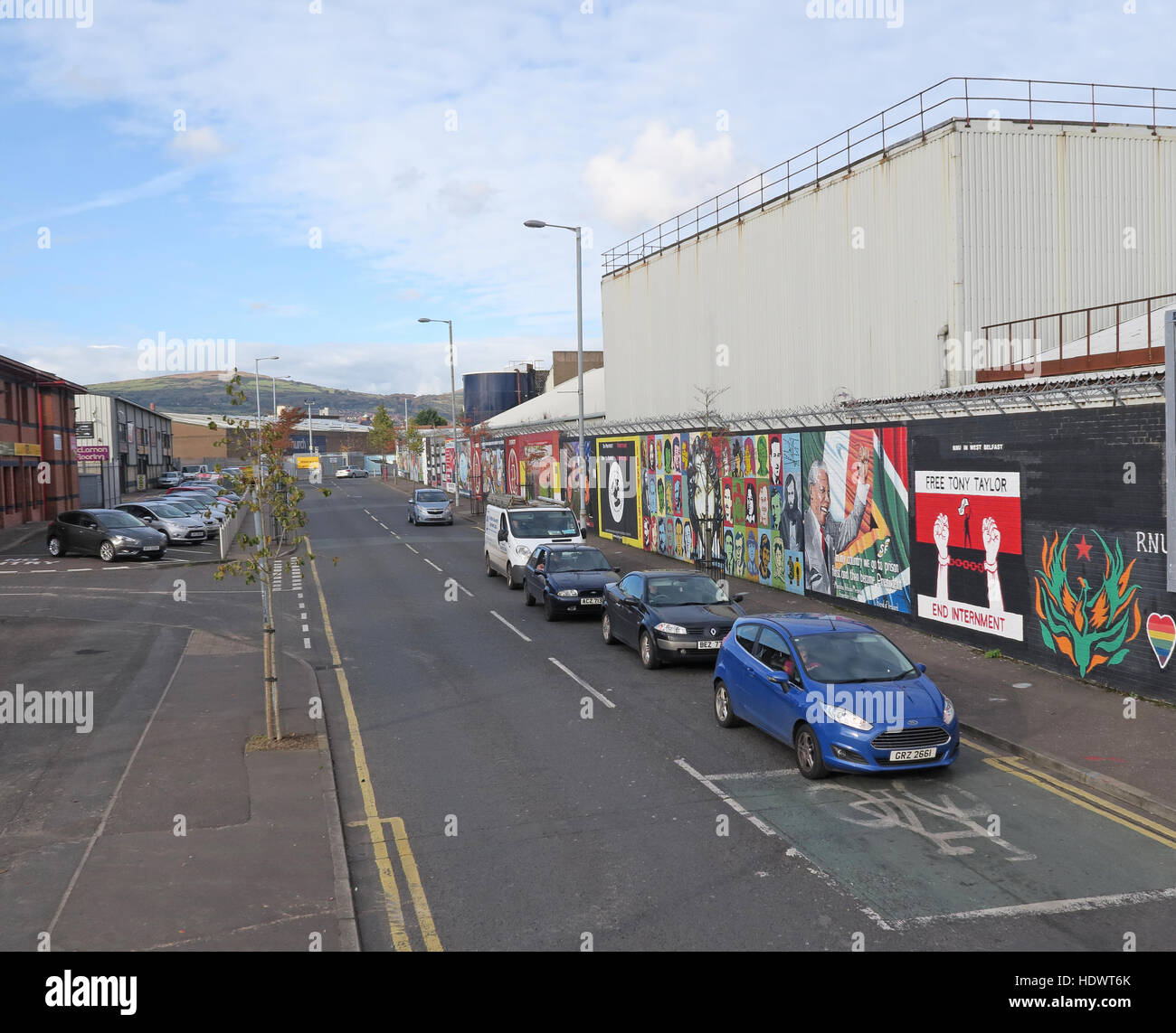 International Peace Wall, off Shankill Road/Cupar Way, West Belfast,Northern Ireland,UK - Stock Image