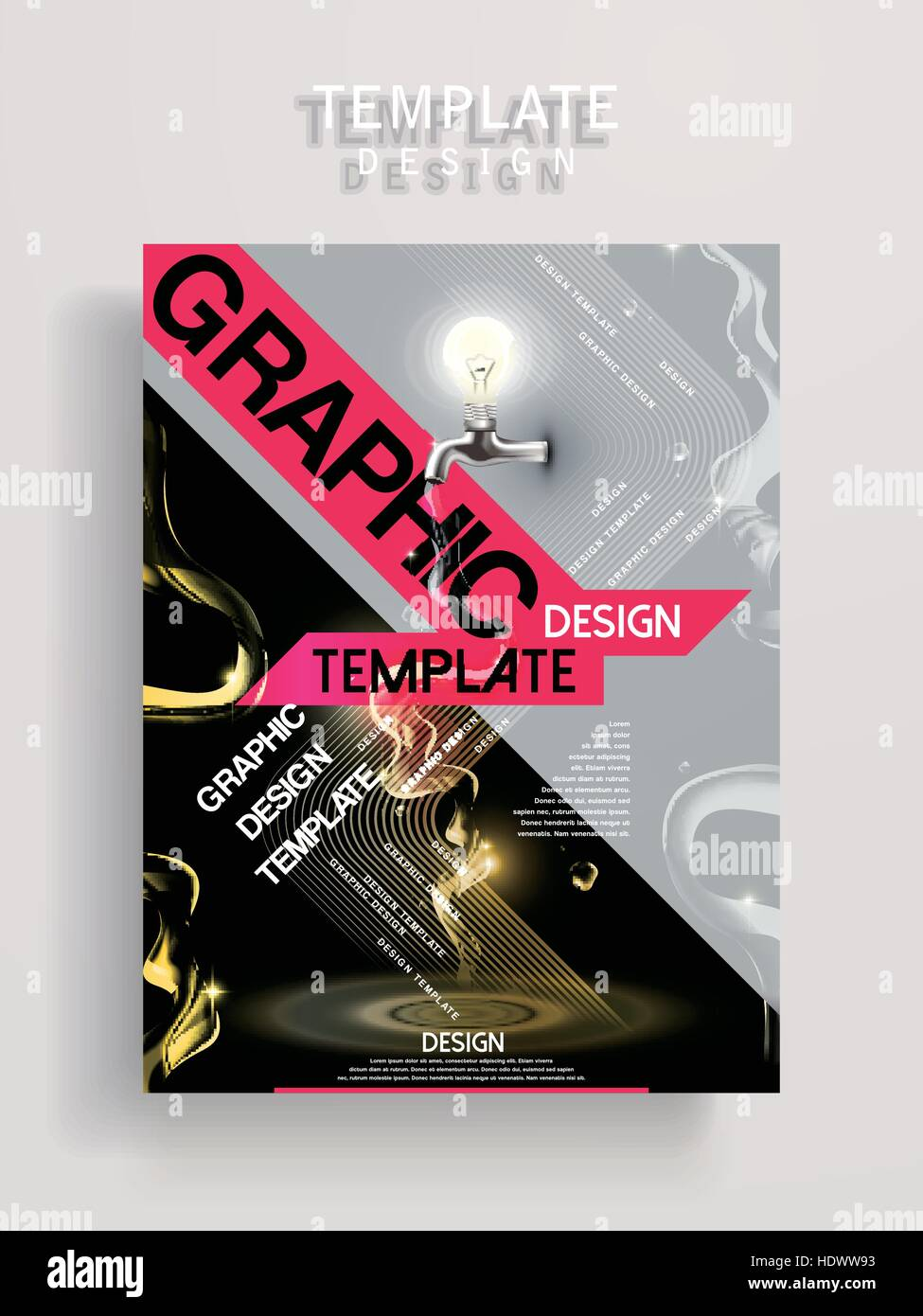Creative Poster Template Design With Water Tap And Lighting Bulb Stock Vector Image Art Alamy,Wedding Henna Designs