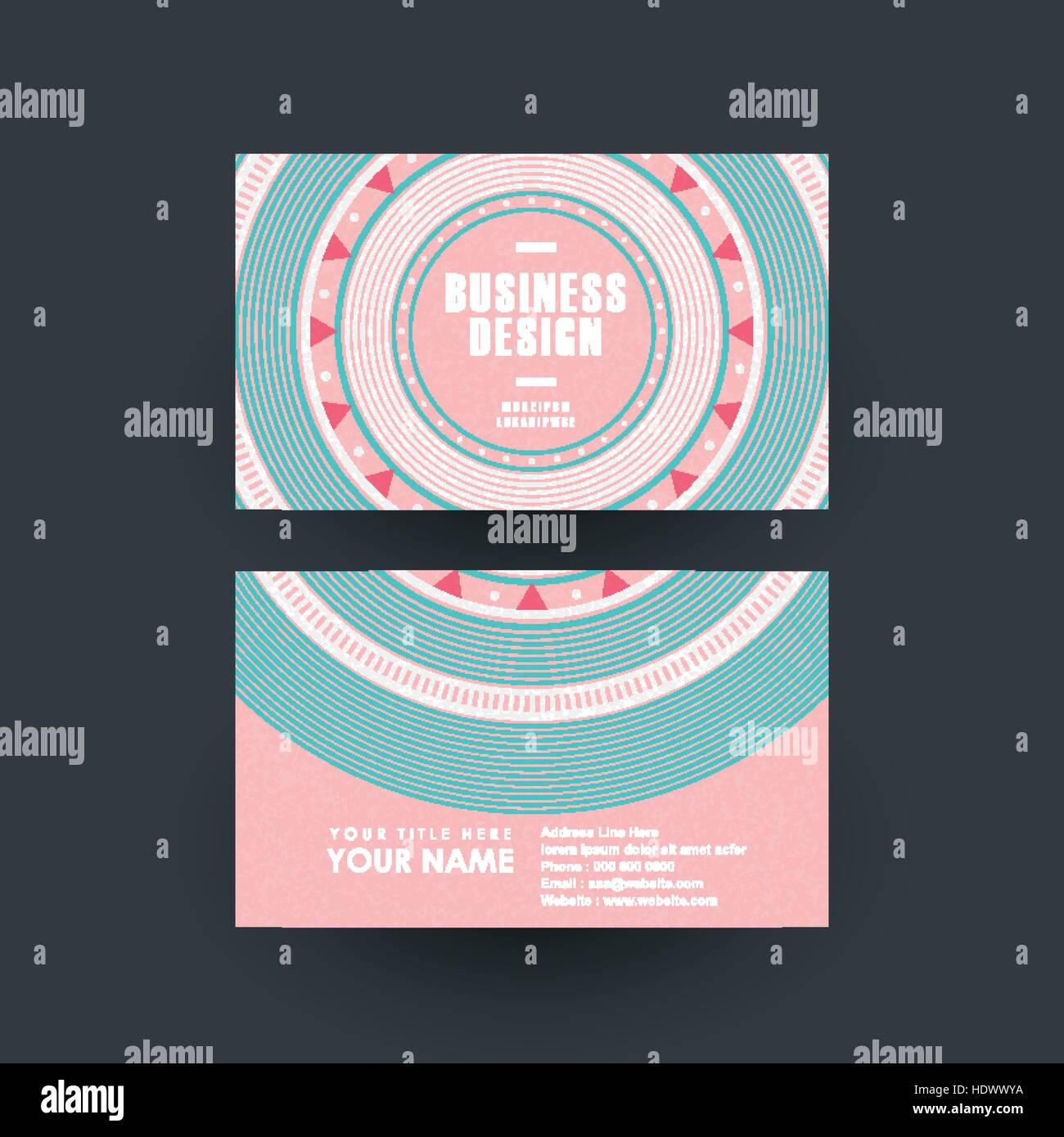 modern pink vinyl record design for business card Stock Vector Art ...