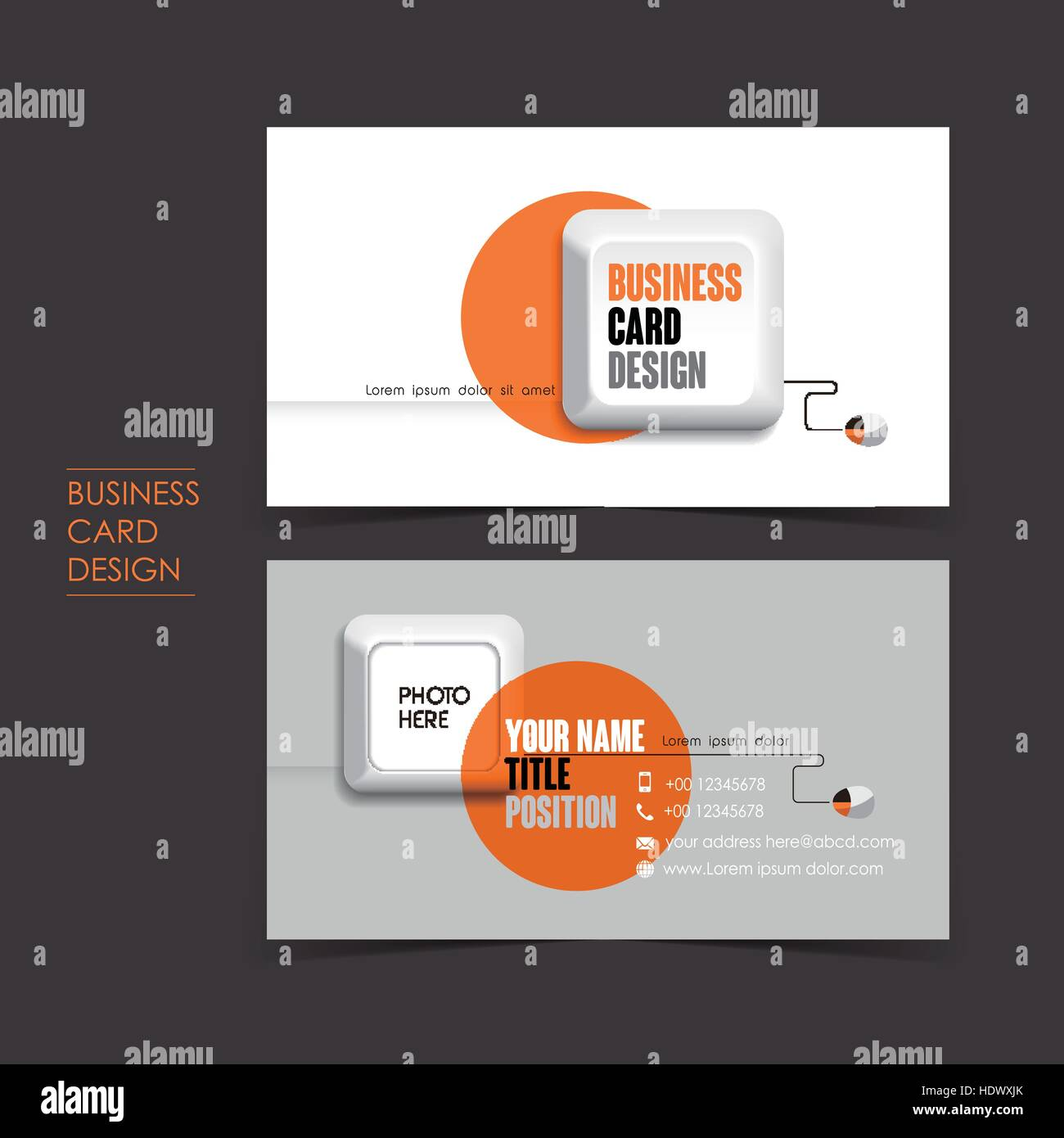 Professional vector business card set template with keyboard design professional vector business card set template with keyboard design reheart Choice Image