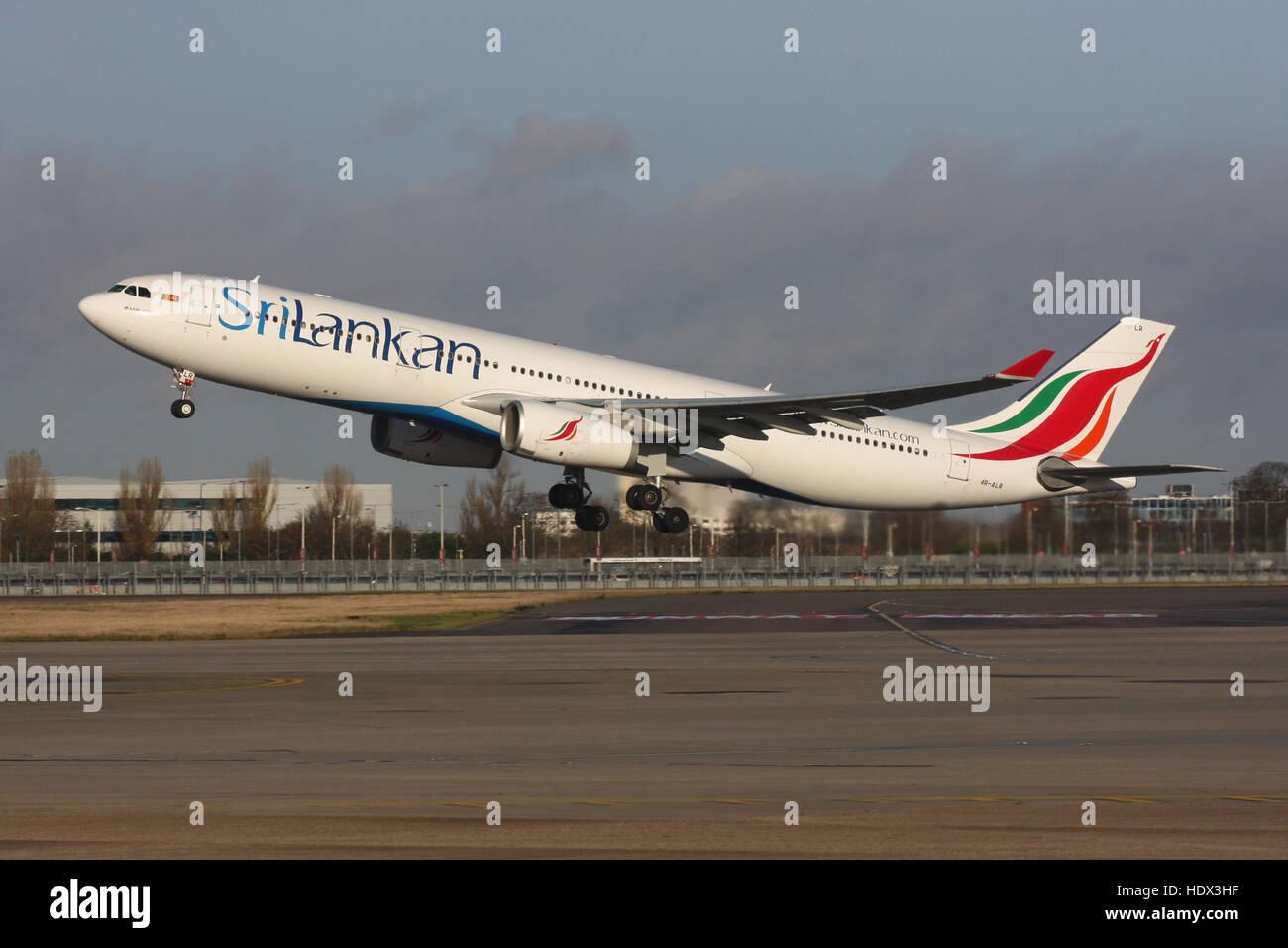 SRI LANKAN A330 - Stock Image