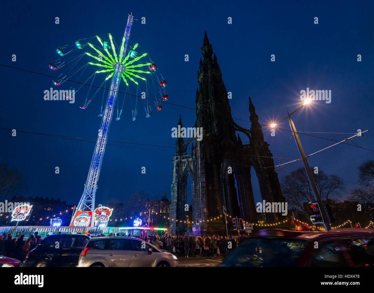 edinburgh christmas tourism scotland christmas market princes street scott memorial and fair
