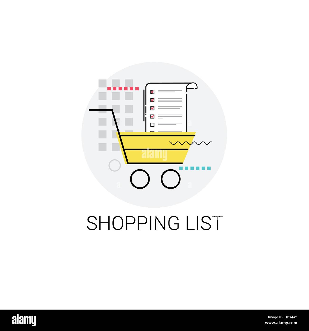 cart online shopping list icon
