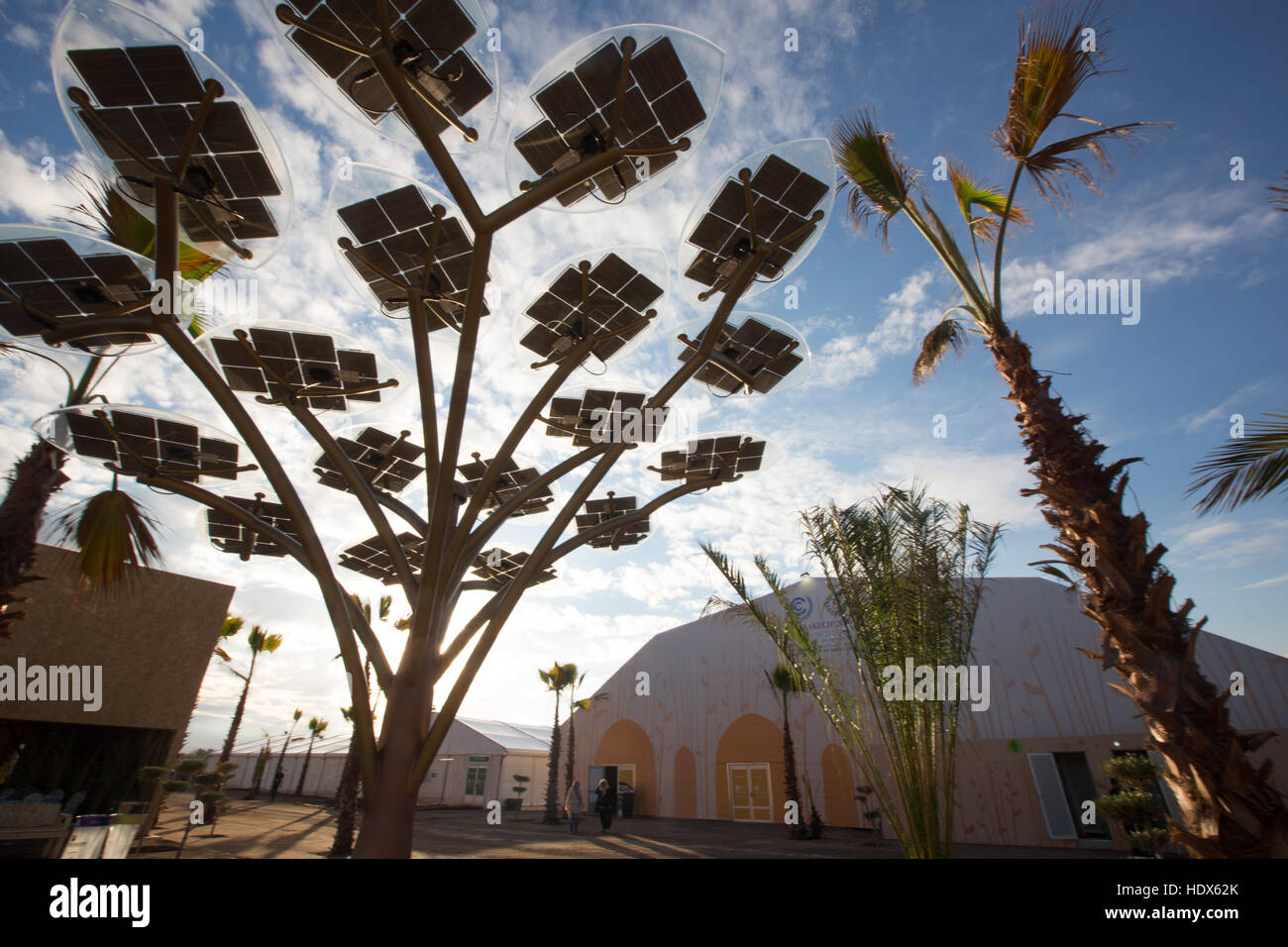 UNFCCC COP22 climate change negotiations conference in Marrakech, Morocco, in 2016. - Stock Image
