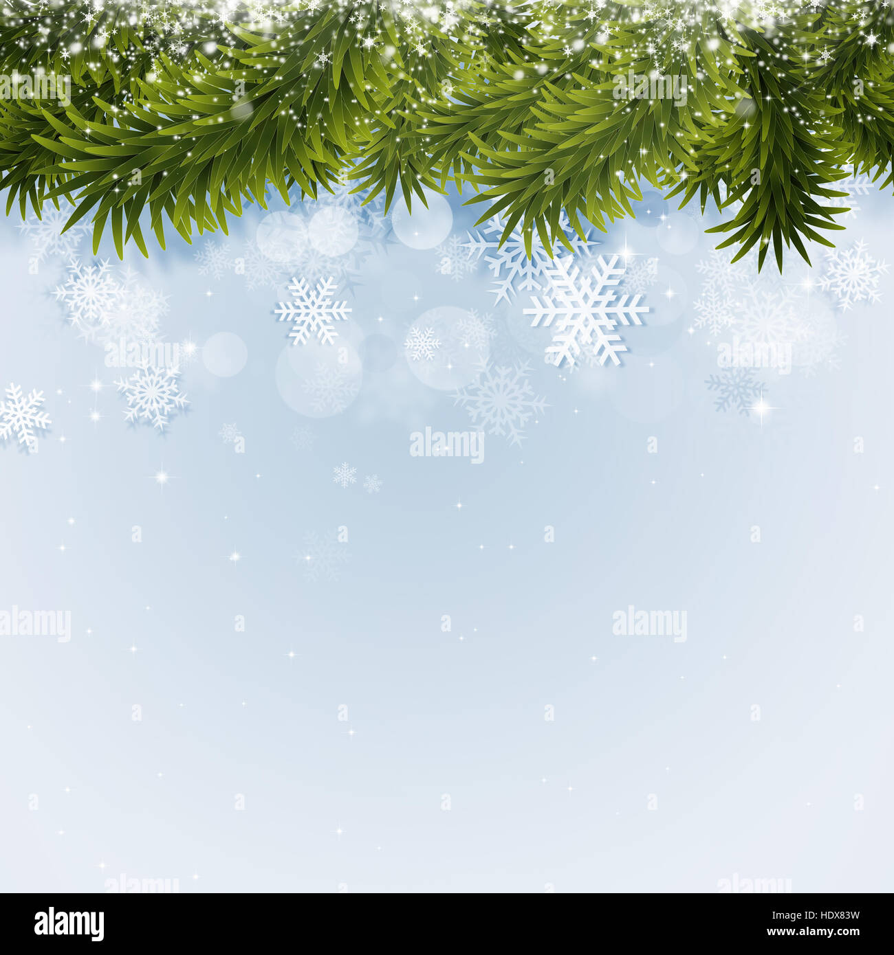 winter holiday background for christmas and new year cards - Stock Image