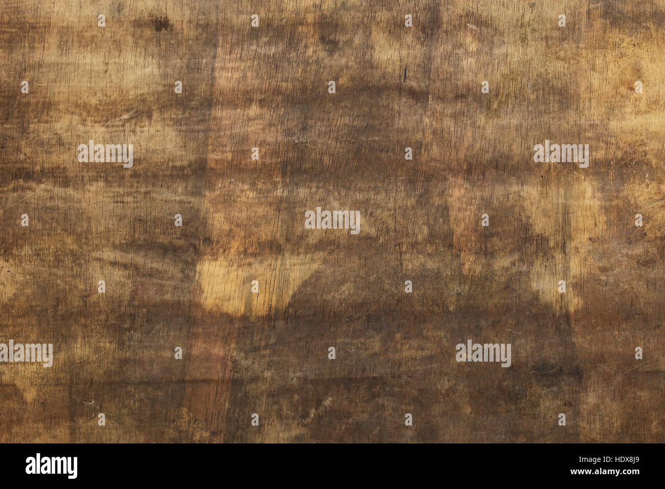 Grunge brown yellow wood texture background with scratches. - Stock Image