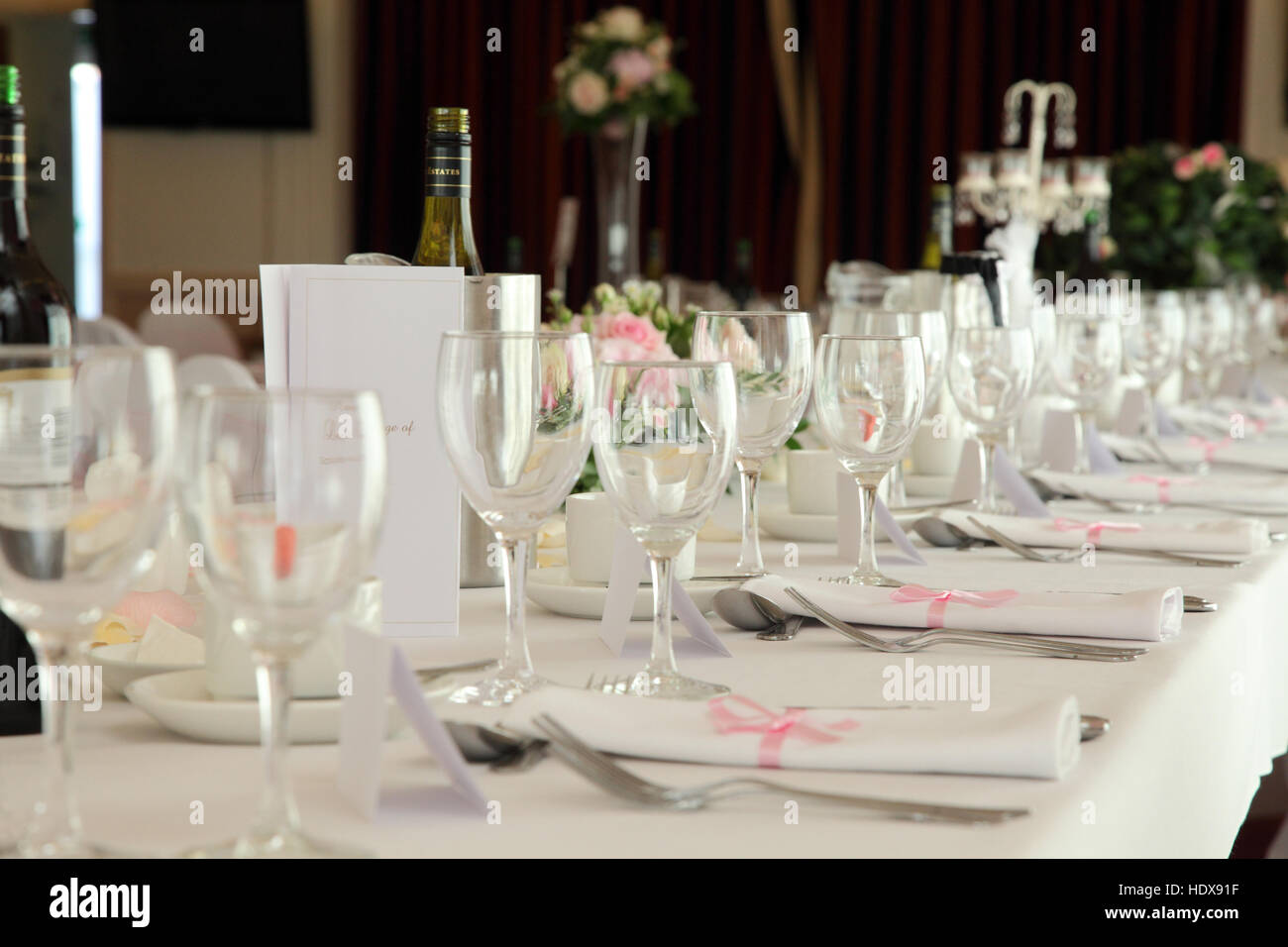 Wedding Table With Plates Stock Photos & Wedding Table With Plates ...