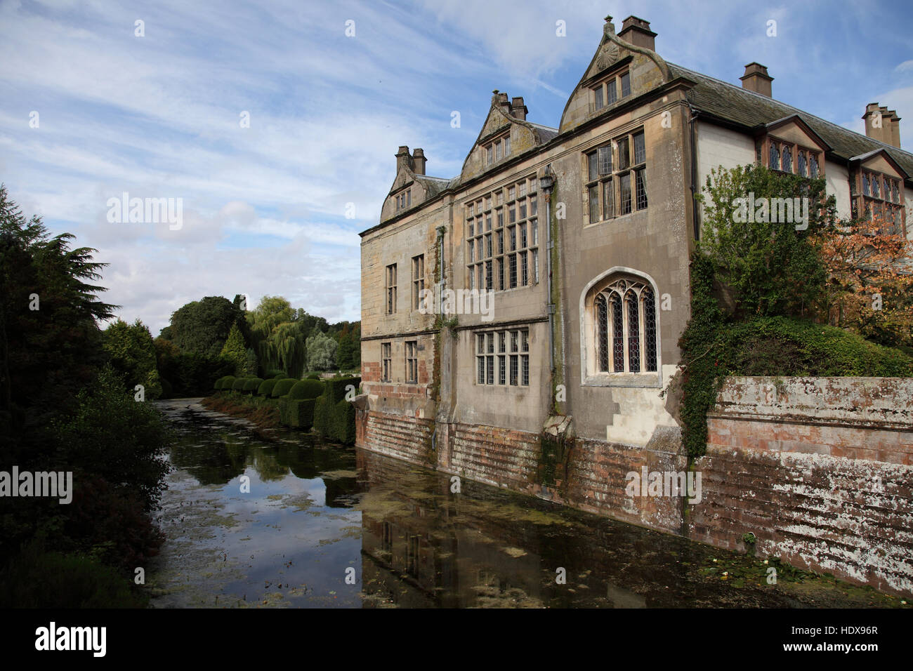 Coombe Abbey, a popular moated wedding venue, hotel and conference centre at Coventry - Stock Image