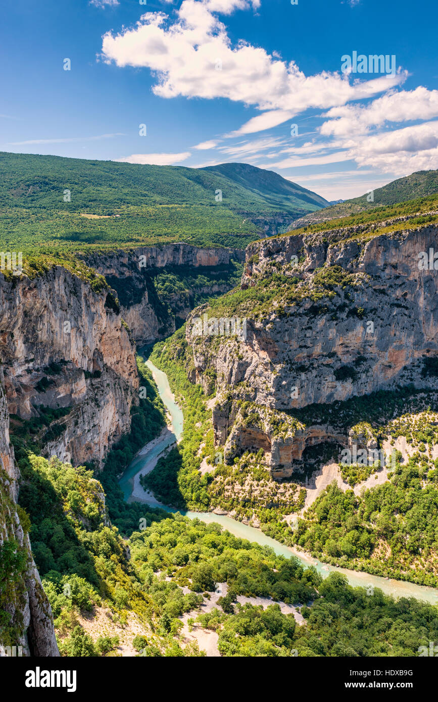 Verdon River and Gorge in South-Eastern France Stock Photo