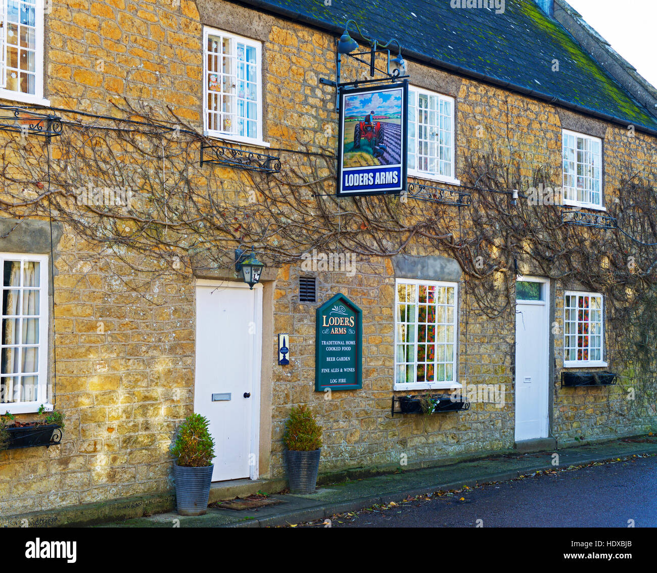 The Loders Arms, the village pub in Loders, Dorset, England UK - Stock Image