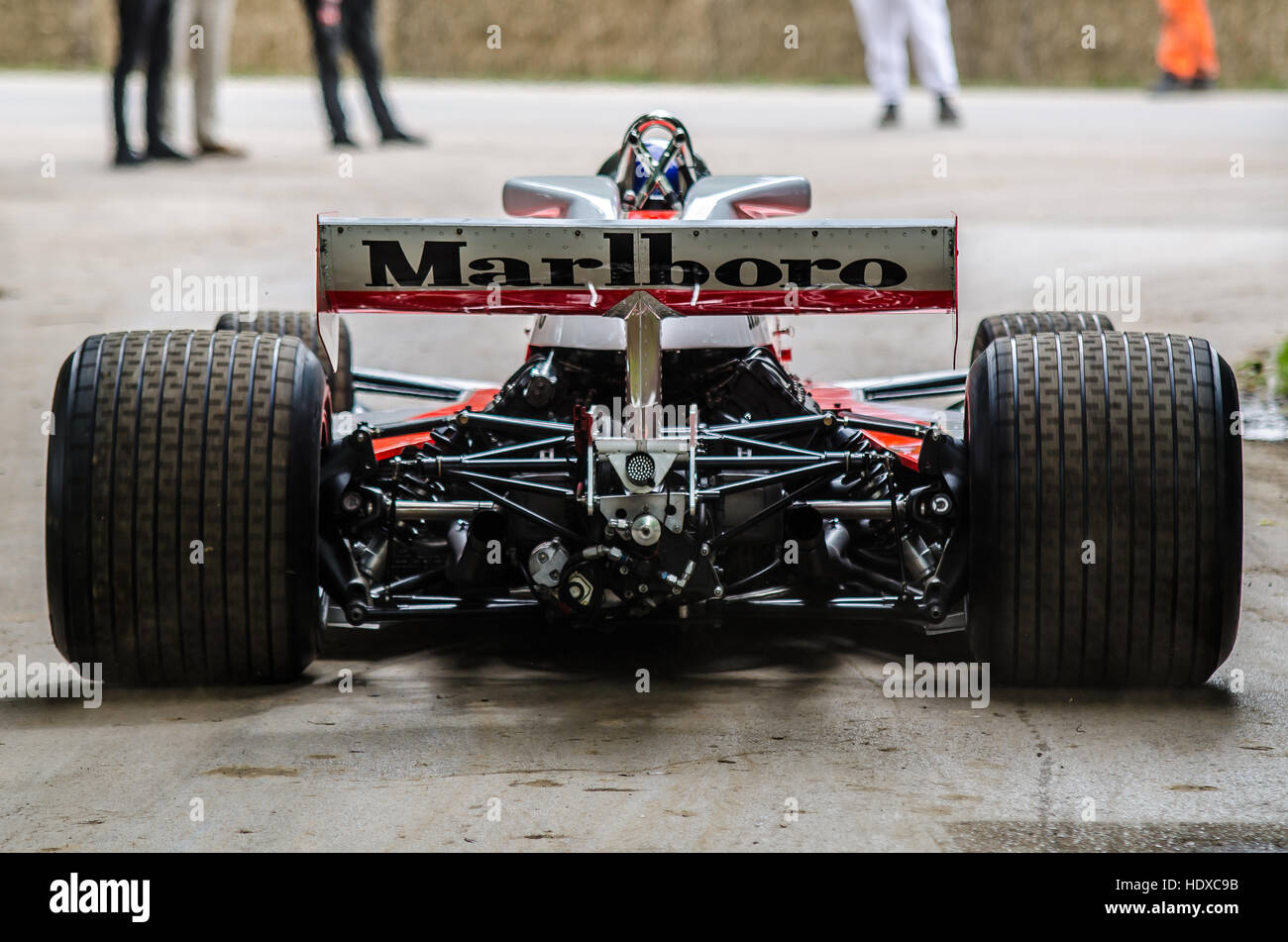 James Hunt's 1976 McLaren Cosworth M23 at the 2016 Goodwood Festival of Speed celebrating the fortieth year - Stock Image