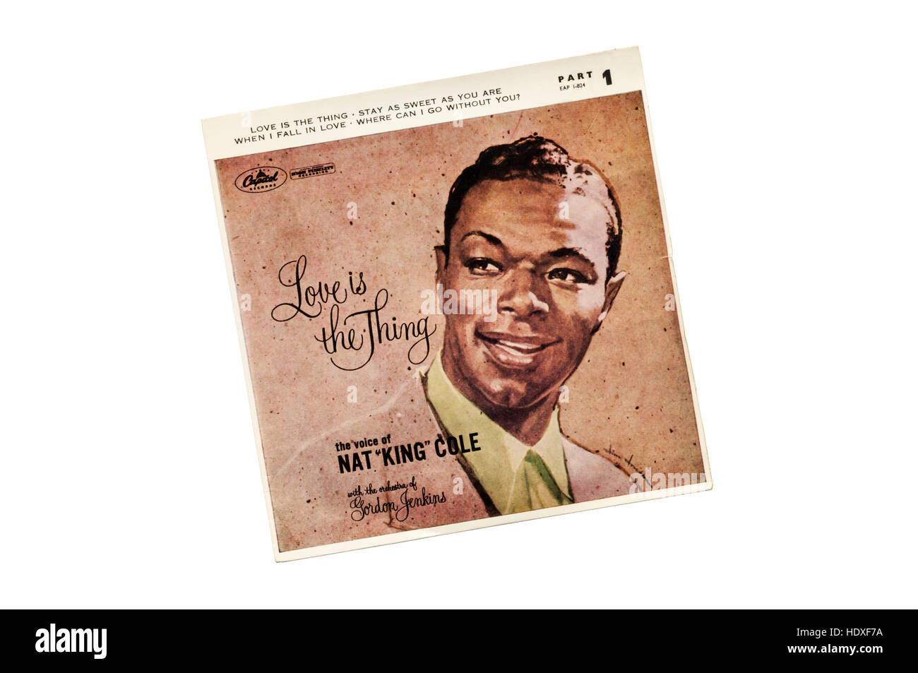 Love is the Thing by Nat 'King' Cole released in 1957. - Stock Image