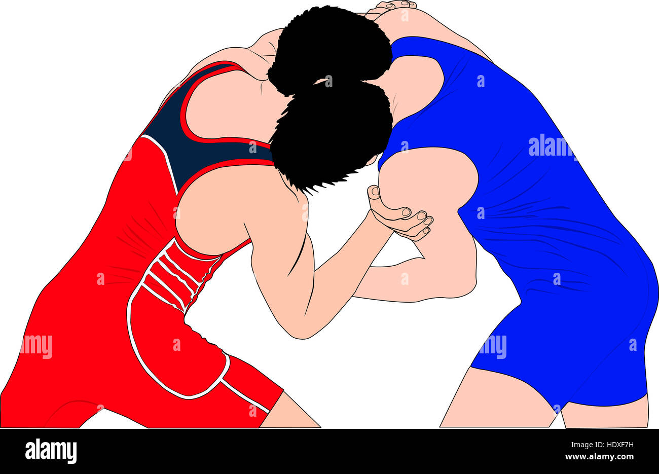 Two Men Wrestlers In Greco Roman Wrestling At Competitions Color Stock Photo Alamy