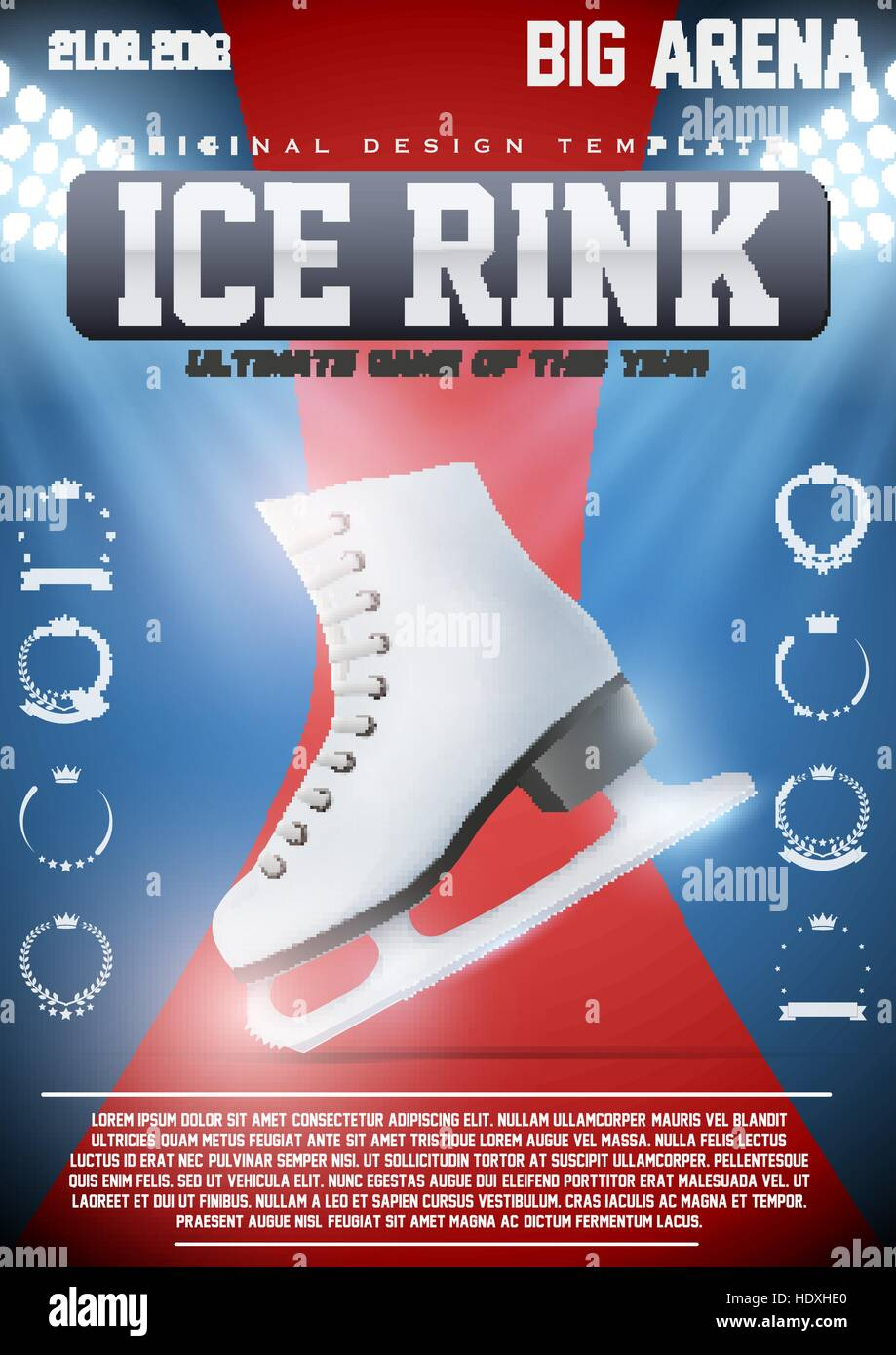 Poster Template of Ice Skating Rink Stock Vector Art & Illustration ...