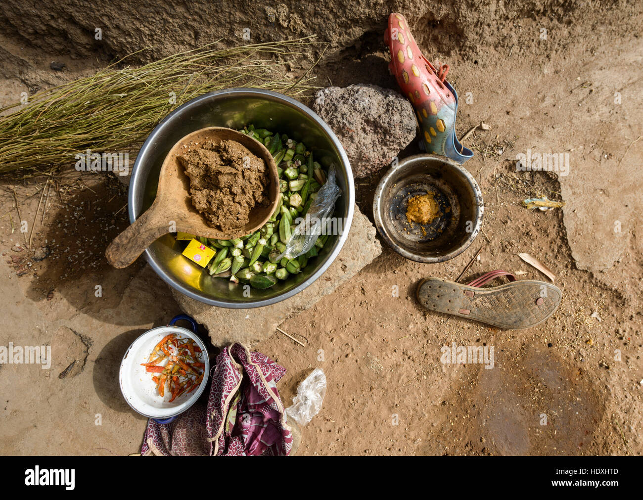 Village life of Northern Togo - Stock Image