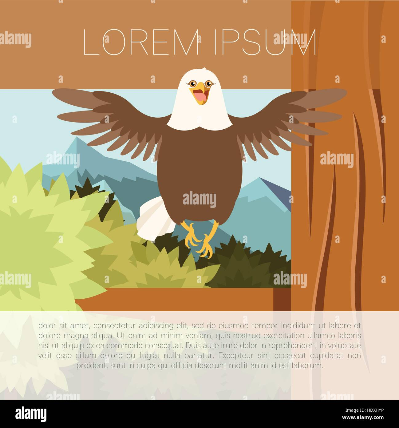 Dignity Vector Vectors Stock Photos Bald Eagle Diagram Along With Golden Related Keywords Image Of The Happy On Tree Flat Background