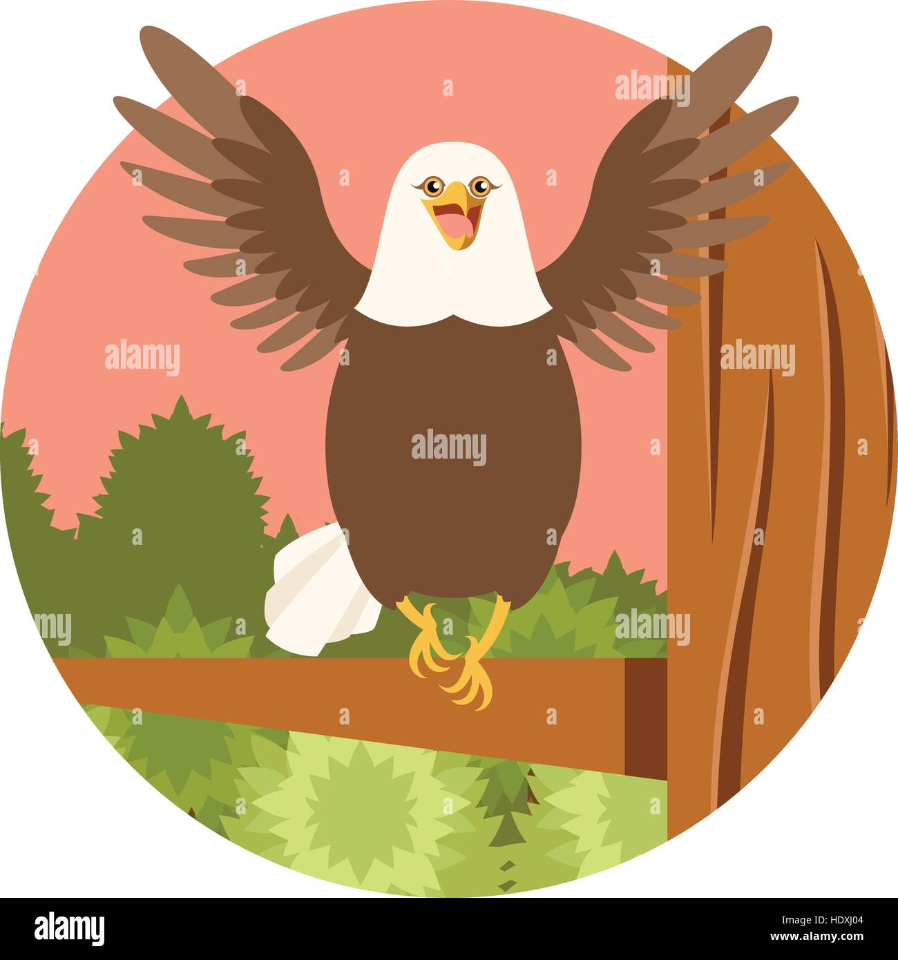 Dignity Vector Vectors Stock Photos Bald Eagle Diagram Golden Related Keywords Suggestions Image Of The Happy On Tree Flat Background