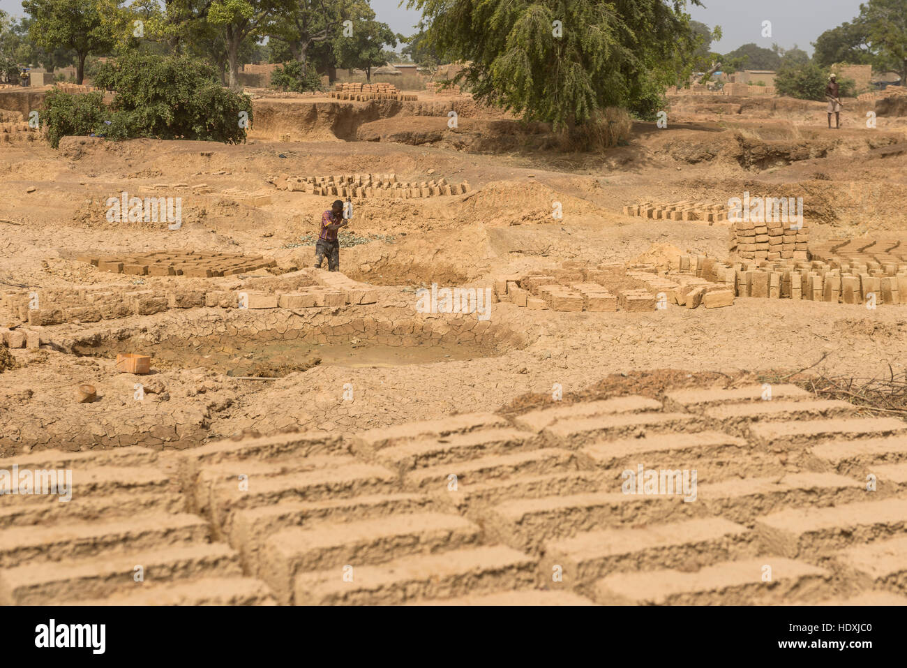 Brick quarry, Burkina Faso - Stock Image