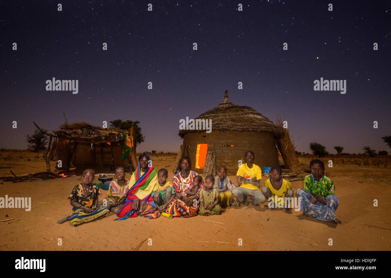 Fulani nomads of the Sahel, Burkina Faso - Stock Image