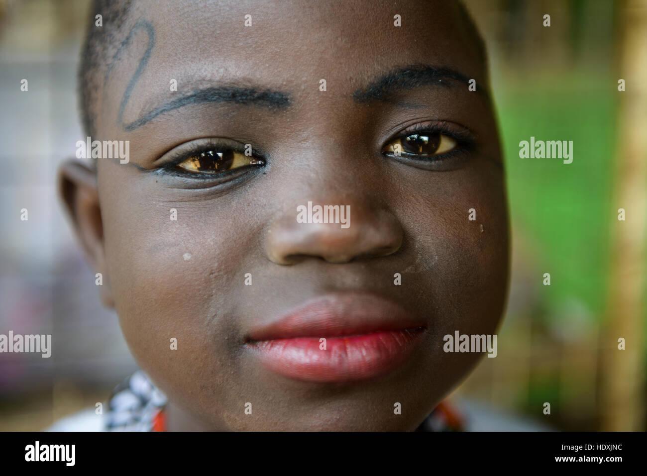 Portraits of Ghanaian girls - Stock Image