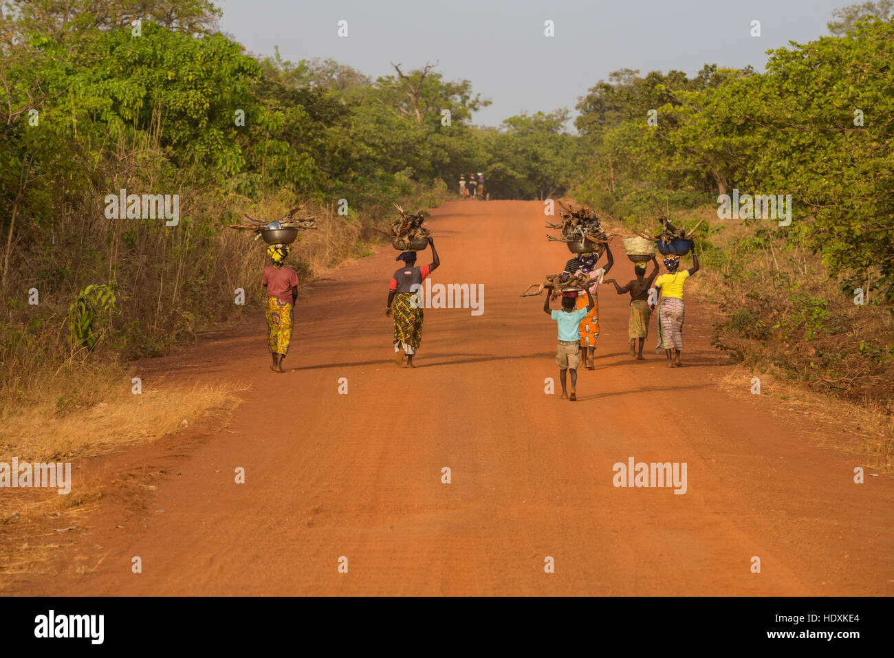 Roads of northern Cote D'Ivoire (Ivory Coast) - Stock Image