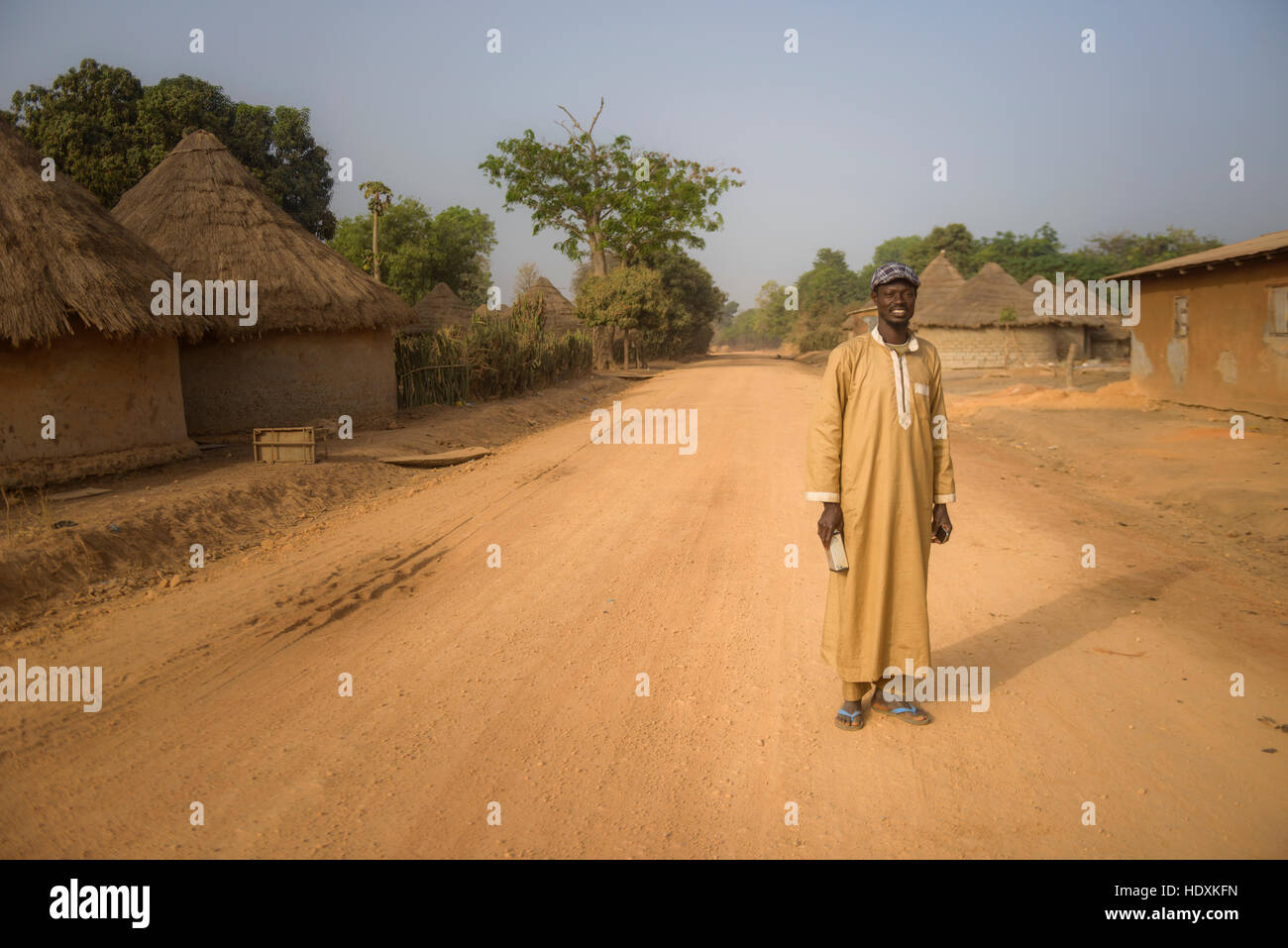 Portraits of Guineans, Guinea - Stock Image