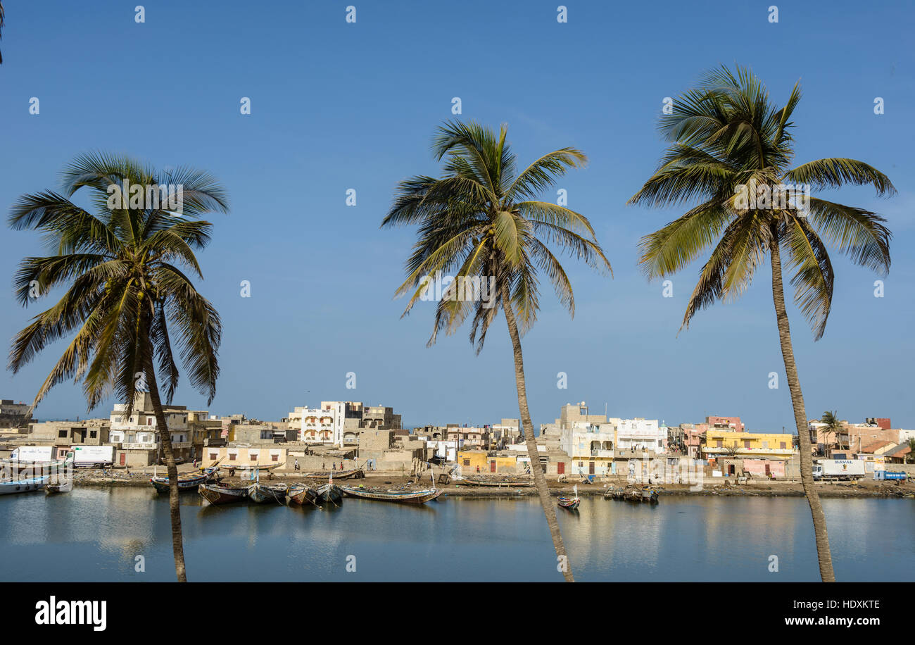 Inland rivers of St,Louis, Senegal - Stock Image