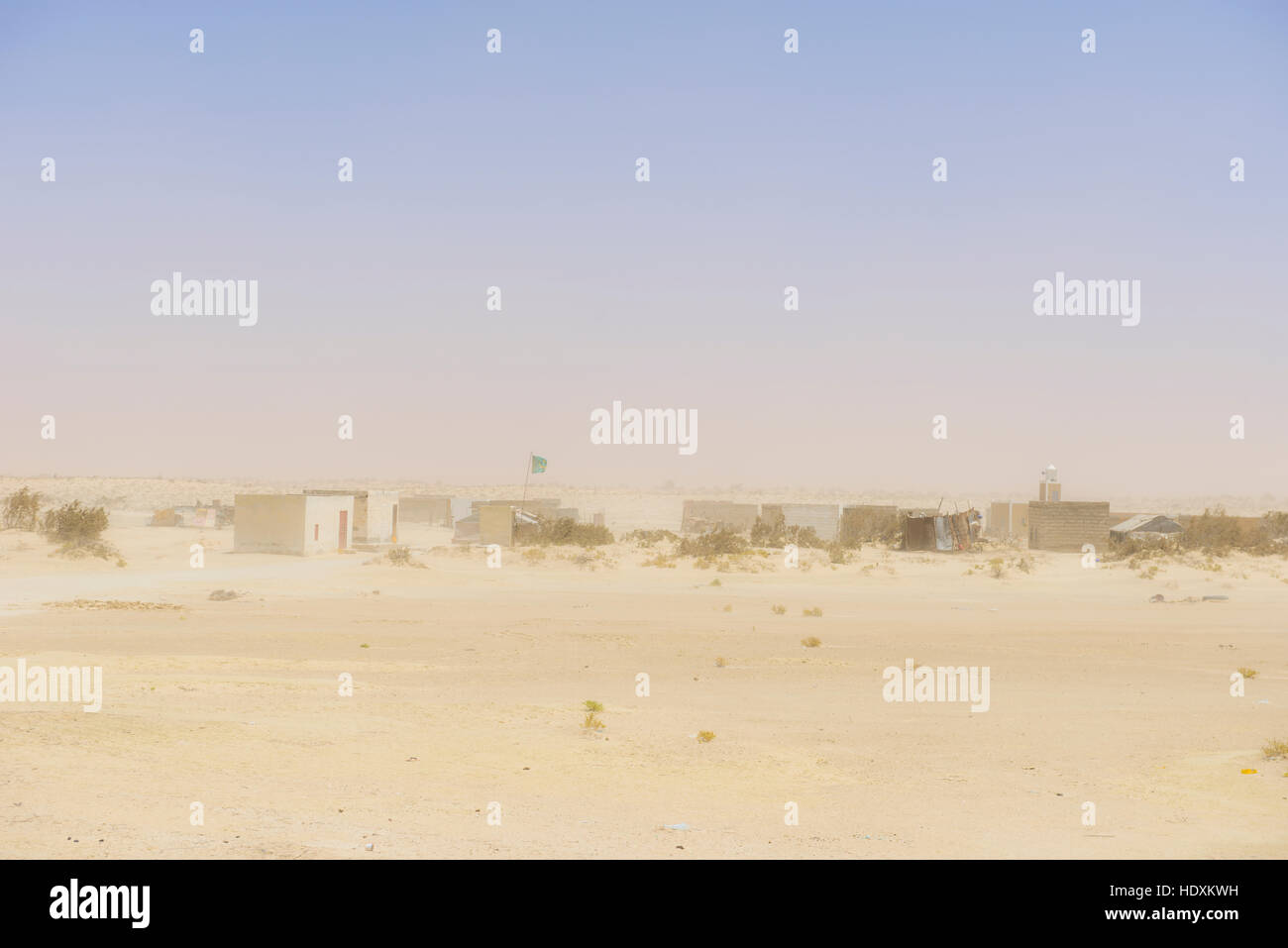 Villages of the Sahara desert, Mauritania - Stock Image