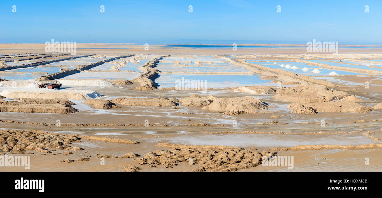 Salt pan in southern Morocco - Stock Image