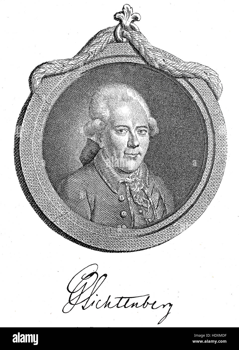 Georg Christoph Lichtenberg, 1742-1799, a mathematician and the first German professor of experimental physics in - Stock Image