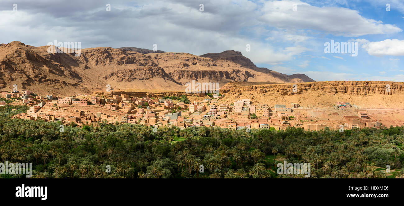 Villages of the High-Atlas, Morocco - Stock Image