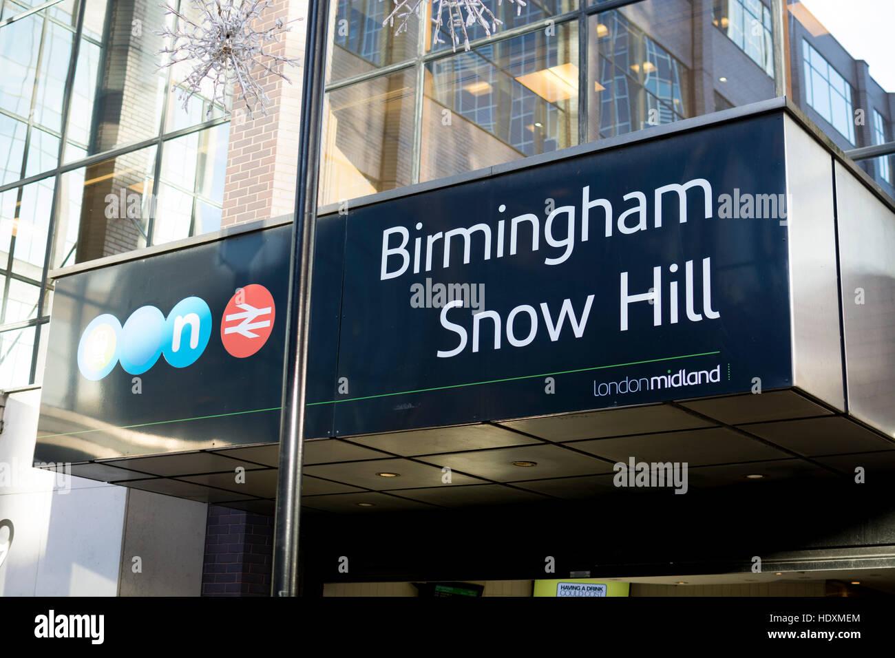 Snow Hill railway station, Birmingham, UK Stock Photo